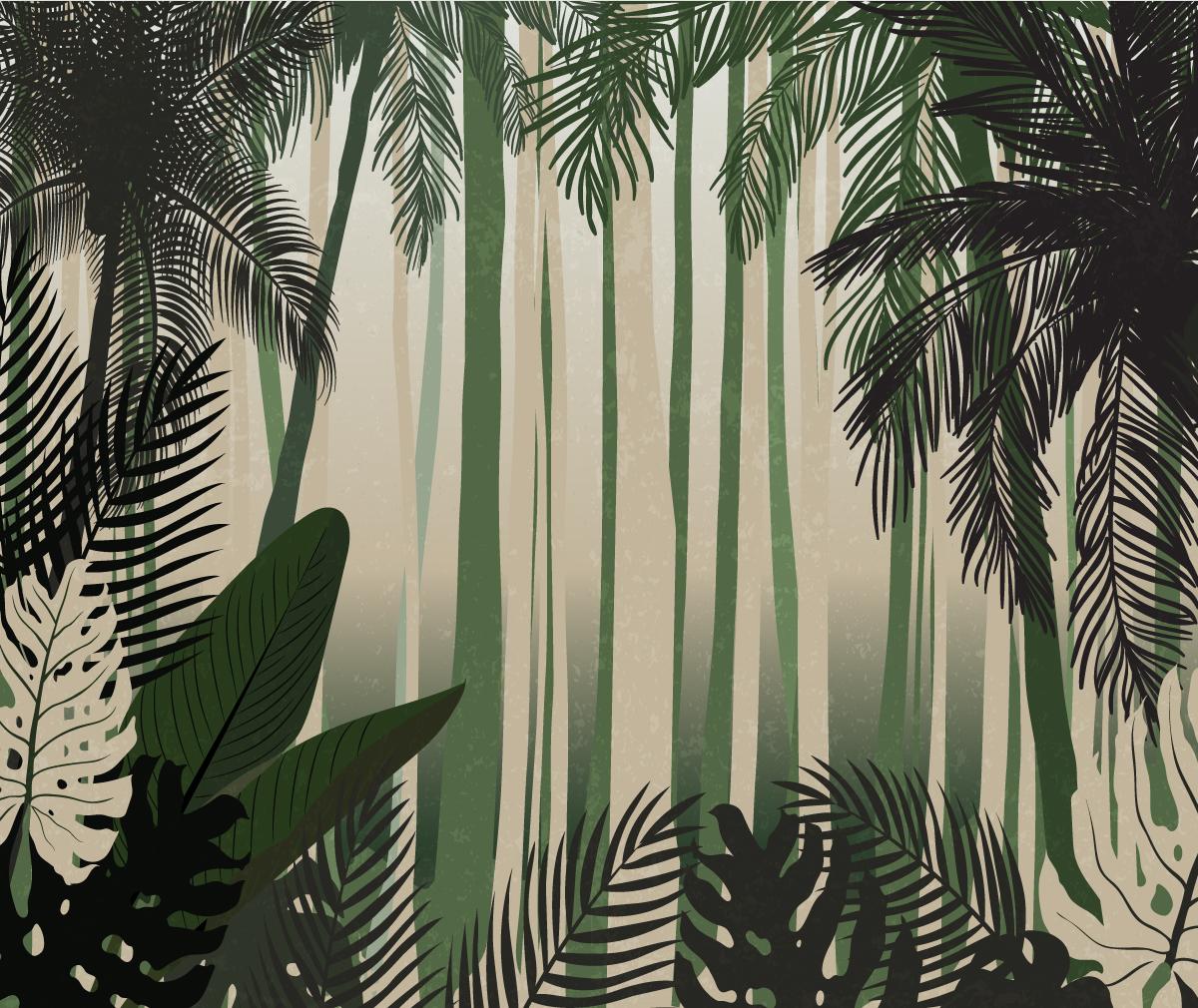 tropics no.3 green & beidge
