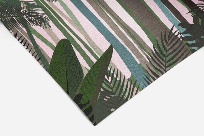 tropics no.1 green & light pink
